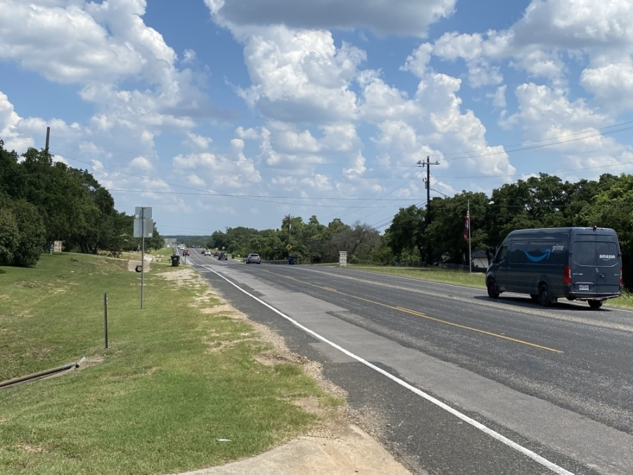 The safety and mobility project, which will widen D.B. Wood Road, will begin construction in 2022. (Trent Thompson/Community Impact Newspaper)