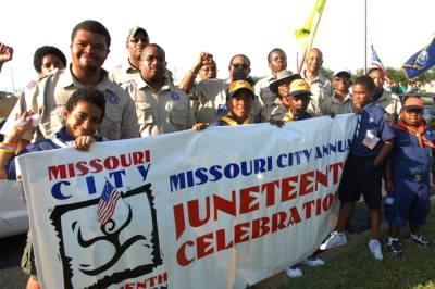 The Missouri City Juneteenth Celebration Foundation holds a number of events each year commemorating the holiday, including a parade and concert in the park. (Courtesy Missouri City Juneteenth Celebration Foundation)