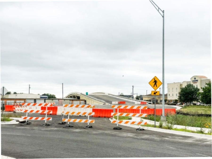 One of the most recent city projects being completed through the use of eminent domain is the Northwest Boulevard Bridge project, an I-35 east-west overpass bridge that connects north of Rivery Boulevard with FM 971. (Fernanda Figueroa/Community Impact Newspaper.
