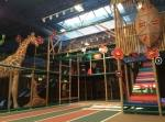 The family-friendly play center offers a variety of games and climbing obstacles for children. (Courtesy Safari Run)