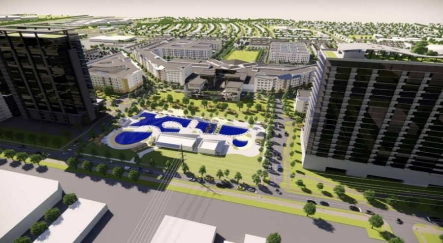 Plano City Council unanimously approved a spending plan at its June 14 meeting for the revenue they expect the Collin Creek Mall development tax zone to generate. The first phase of the project includes new apartment buildings, restaurants and underground parking. (Rendering courtesy Centurion American)