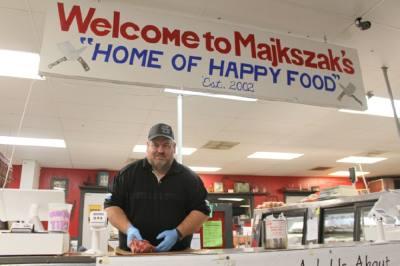 Majkszak opened his butcher shop in 2002. (Eva Vigh/Community Impact Newspaper)