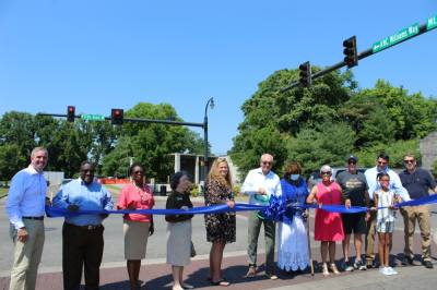 Community members and city officials held a ceremony for the new street names June 18. (Wendy Sturges/Community Impact Newspaper)