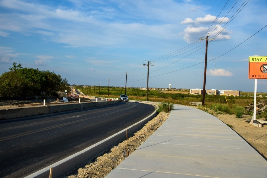 Construction of Klein Road has been ongoing since February 2019. (Courtesy city of New Braunfels)