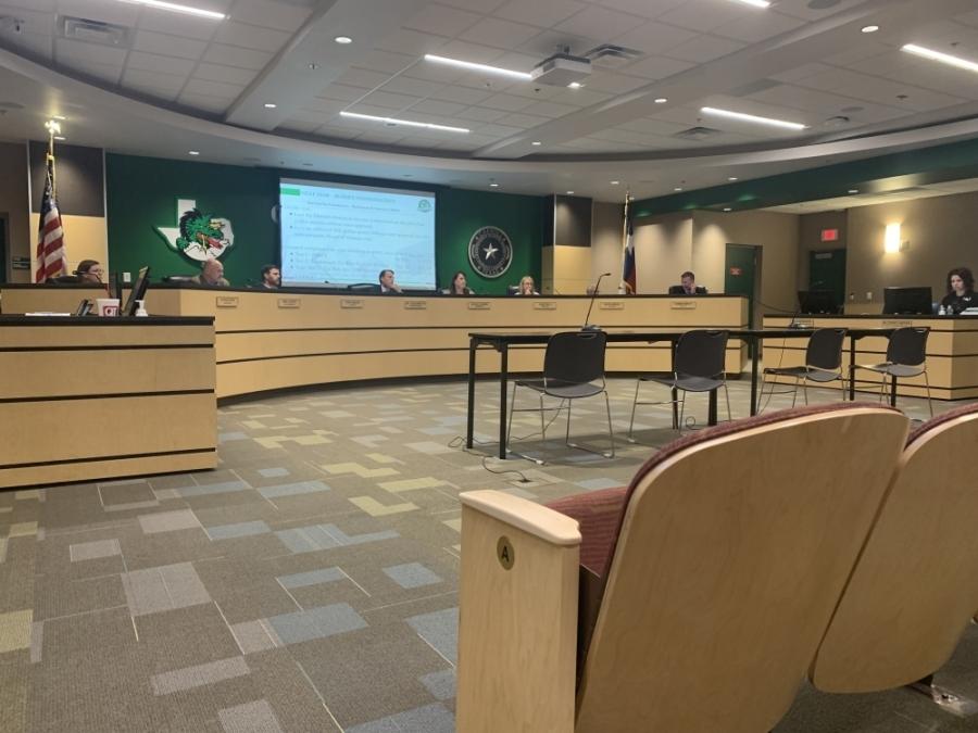 Carroll ISD Superintendent Lane Ledbetter unveiled safety strategies to the board of trustees on June 21. (Sandra Sadek/Community Impact Newspaper)