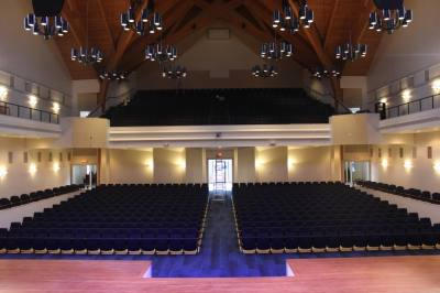 The 21,000-square-foot venue is able to seat 877 people. (Hannah Zedaker/Community Impact Newspaper)