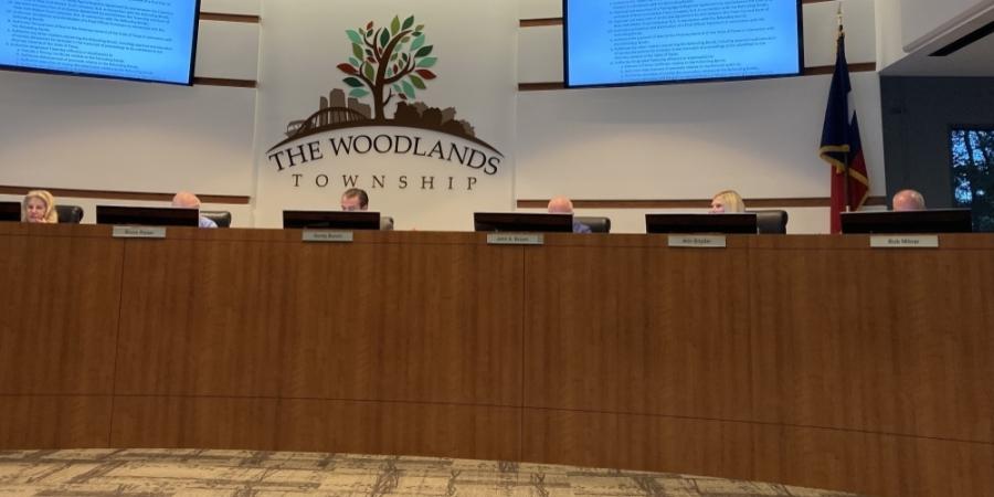 The Woodlands Township board of directors met June 23. (Vanessa Holt/Community Impact Newspaper)