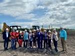 The groundbreaking for the Manvel Town Center was held June 22. (Courtesy Weitzman)