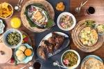 Photo of a spread of Caribbean food