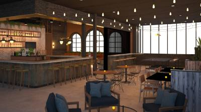 Loop, 7511 Main St., will be set in a two-story, roughly 6,000 square-foot space with for-rent ping-pong tables that can accommodate parties of varying sizes, said partner Michelle George. Loop will also feature a food menu, two bars and an upstairs patio. (Courtesy Loop)