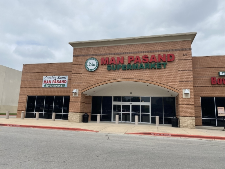 An opening date has not been announced, but among the supermarket's offerings are halal meats and organic fruits and vegetables as well as grocery delivery. (Brooke Sjoberg/Community Impact News)