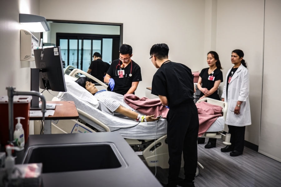 Katy students in the University of Houston College of Nursing train in simulation facilities, which offer hands-on clinical simulation training in a realistic environment. (Courtesy University of Houston College of Nursing)