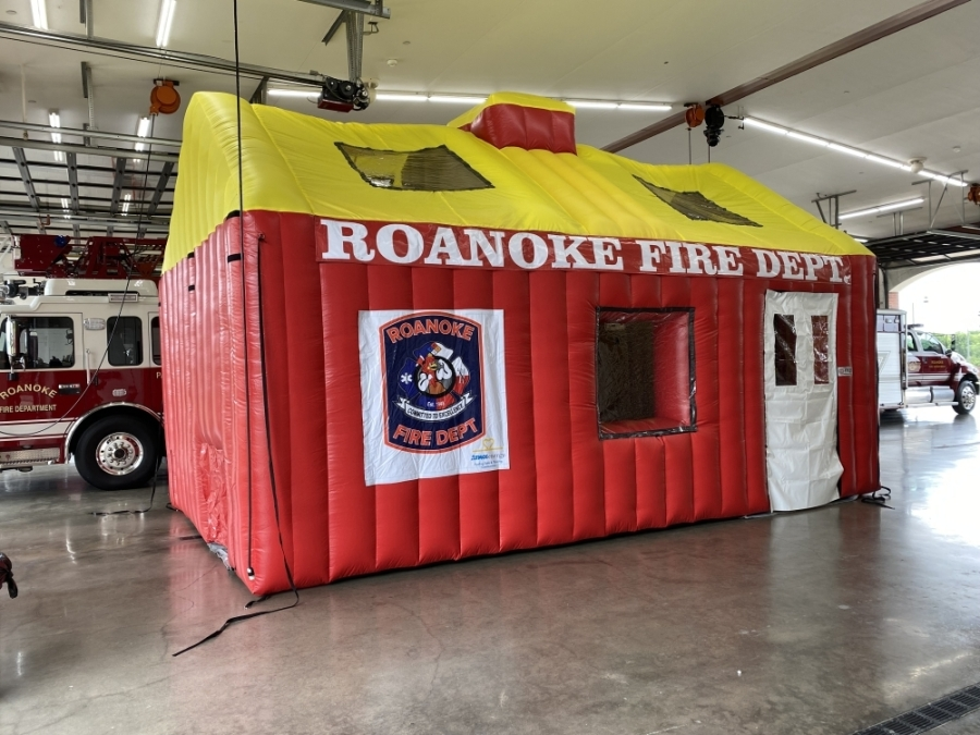 The Roanoke Fire Department has purchased an inflatable fire safety house, thanks to a donation from Atmos Energy. (Courtesy Atmos Energy)