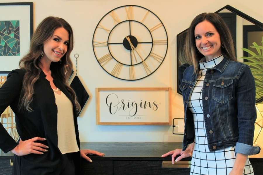 Kaitlyn Wages, left, and Gina Thomson co-founded Origins Birth and Wellness Collective after their own experience with out-of-hospital childbirth. (Sandra Sadek/Community Impact Newspaper)