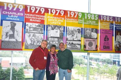 (From right) JD Doyle, Sara Fernandez and Kirk Baxter are the founders of The Banner Project. (Courtesy Kirk Baxter)