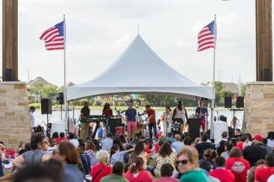 The Boardwalk at Towne Lake hosts an Independence Day celebration. (Courtesy Boardwalk at Towne Lake)