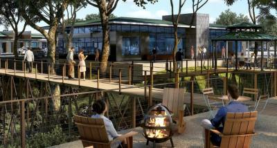Amenities at The Enclave in Frisco will include multiple outdoor work areas to promote health and wellness, according to plans. (Courtesy Fults Commercial Real Estate)