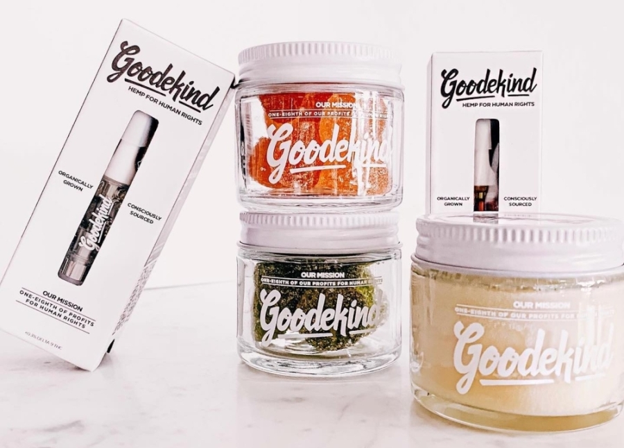 Clear jars containing CBD products