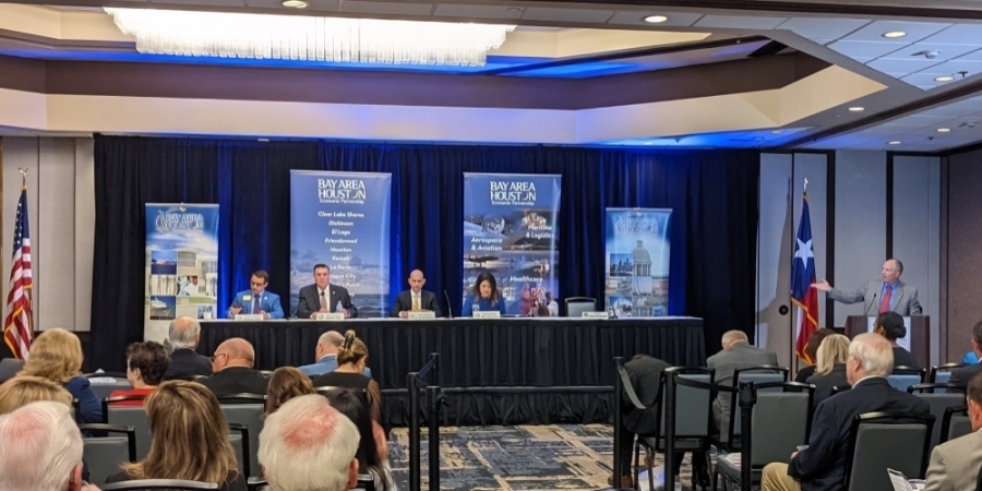 Legislators spoke before an audience June 30 about the 2021 legislative session. (Jake Magee/Community Impact Newspaper)