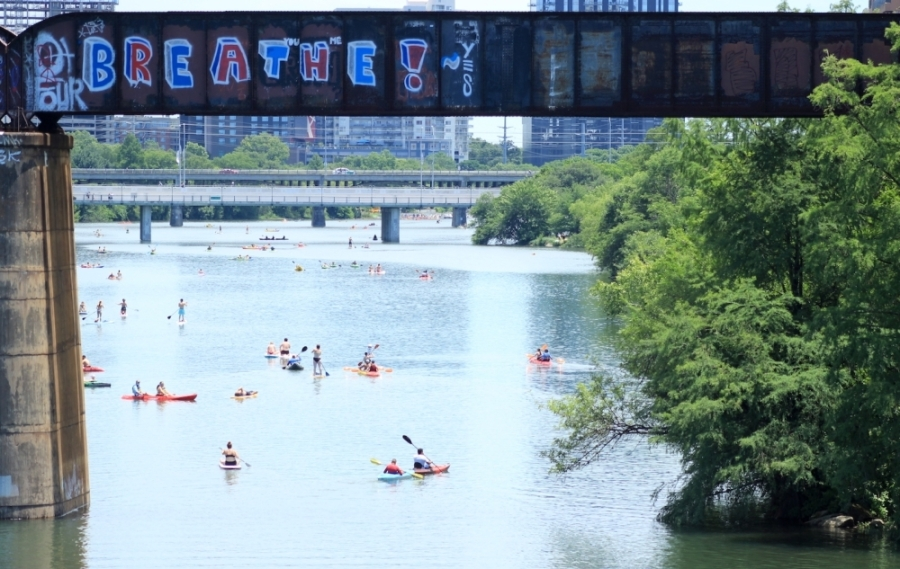 The public is invited to participate in free vessel checks and boater safety demonstrations on Lady Bird Lake July 4. (Jack Flagler/Community Impact Newspaper)