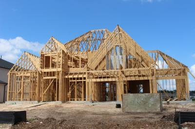 Keith Luechtefeld, president of the Greater Houston Builders Association, said lumber cost increases have been the most notable of rising material costs in the past year. (Andrew Christman/Community Impact Newspaper)