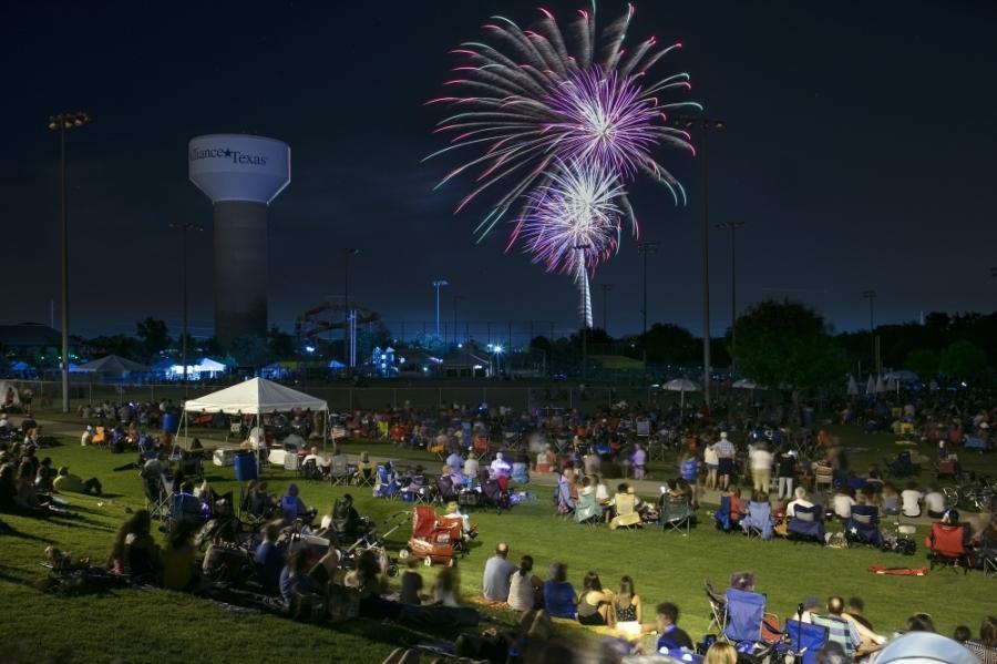 Fireworks will light up the sky over Roanoke Community Park July 3. (Courtesy city of Roanoke)