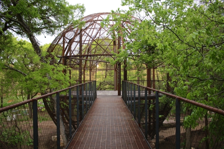 Kingsbury Commons opened to the public on July 2 and features a two-story tree house. (Courtesy Ashley Nava-Monteros/Pease Park Conservancy)