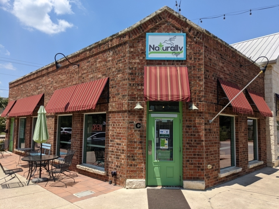 Naturally Cafe is located in Gruene Lake Village. (Warren Brown/Community Impact Newspaper)