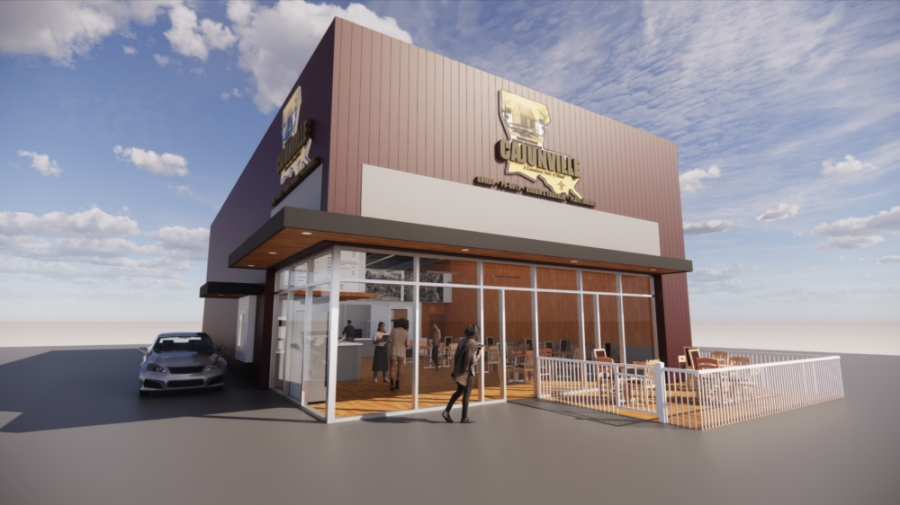 A rendering depicts Cajunville, a Cajun fast-casual restaurant planning to open in Tomball on Sept. 1. (Rendering courtesy Blake Landry)