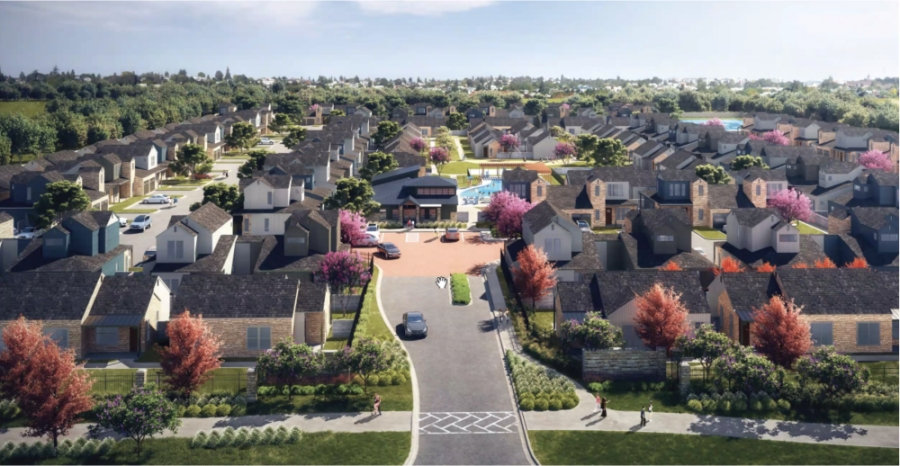 San Marcos City Council voted for a middle-class housing project with affordable housing aspects, which would be located behind the Tanger Outlets mall. (Courtesy city of San Marcos and Provident Realty Advisors)