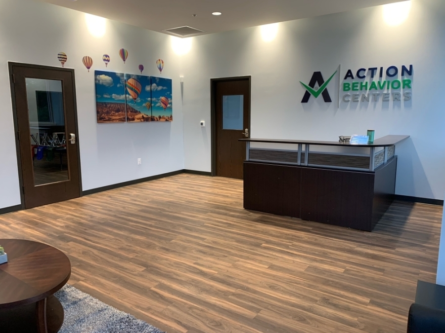 the front lobby of an Action Behavior Centers office