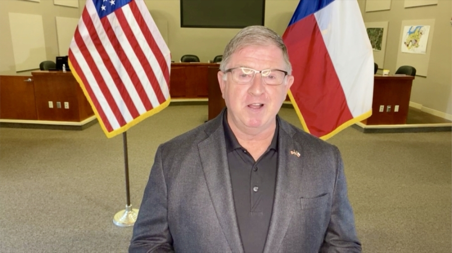 Mayor Tom Kilgore June 8 gave his first video address to Lakeway residents. (Courtesy city of Lakeway)