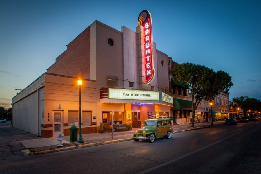 The Brauntex Performing Arts Theatre provides a stage for live performances downtown. (Courtesy Brauntex Theatre)