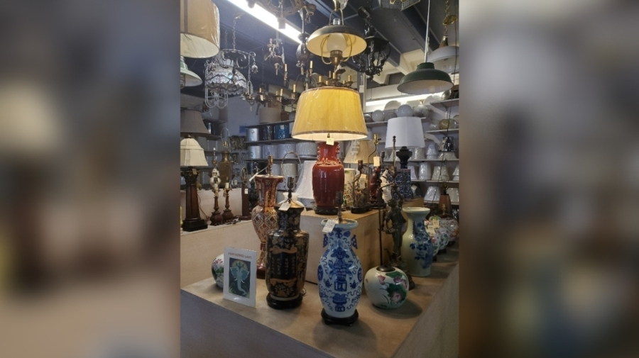 The antique lighting and lamp repair store has operated on West Fifth Street for nearly three decades. (Courtesy Tipler's Lamp Shop)