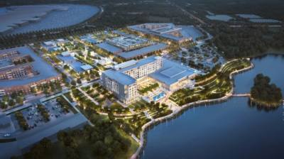 """Once completed, the Katy Boardwalk District will feature a nature preserve, multifamily housing and """"the area's first full-service conference center hotel."""" (Courtesy Katy Boardwalk District)"""