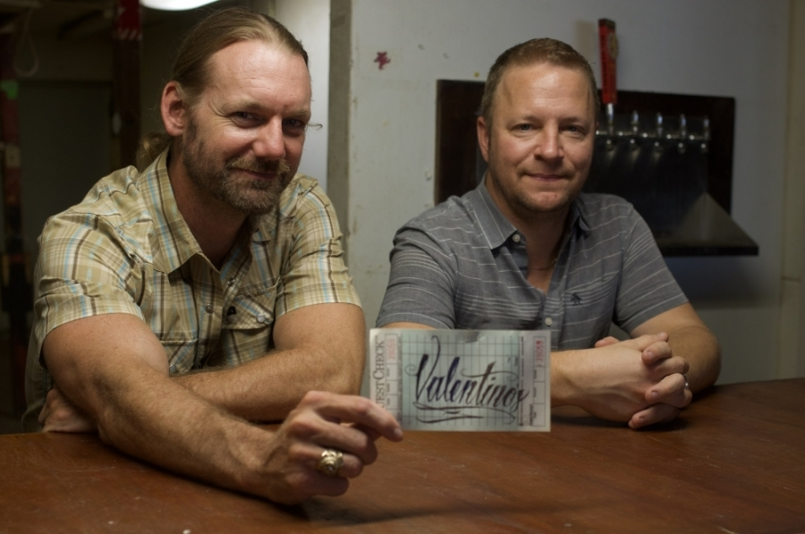 Owners Cody Taylor and Harlan Scott will refurbish and reopen Valentino's. (Warren Brown/Community Impact Newspaper)