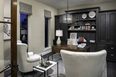 Updating and remodeling office spaces to fit the needs of clients at home during the pandemic was a focal point of Melanie King's work. (Courtesy Melanie King Designs)