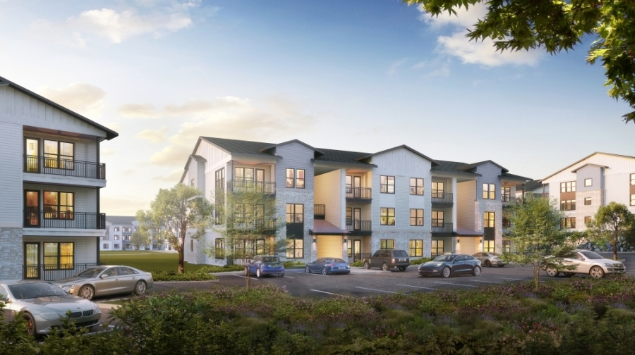 The Caroline will include 16 three-story buildings and build 336 apartment units. (Courtesy Morgan Group)
