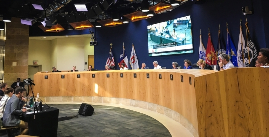 Several Austin City Council members are expected to gather at City Hall July 22 for their first in-person public meeting in over a year. (Christopher Neely/Community Impact Newspaper)