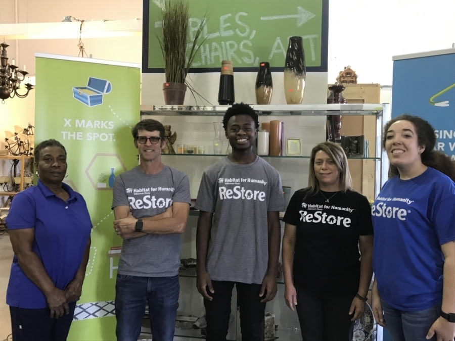 Habitat for Humanity ReStore has been in the Franklin area since 2005 and supports the creation of affordable housing, said ReStore Director Ansel Rogers (second from left). (Photos by Wendy Sturges/Community Impact Newspaper)