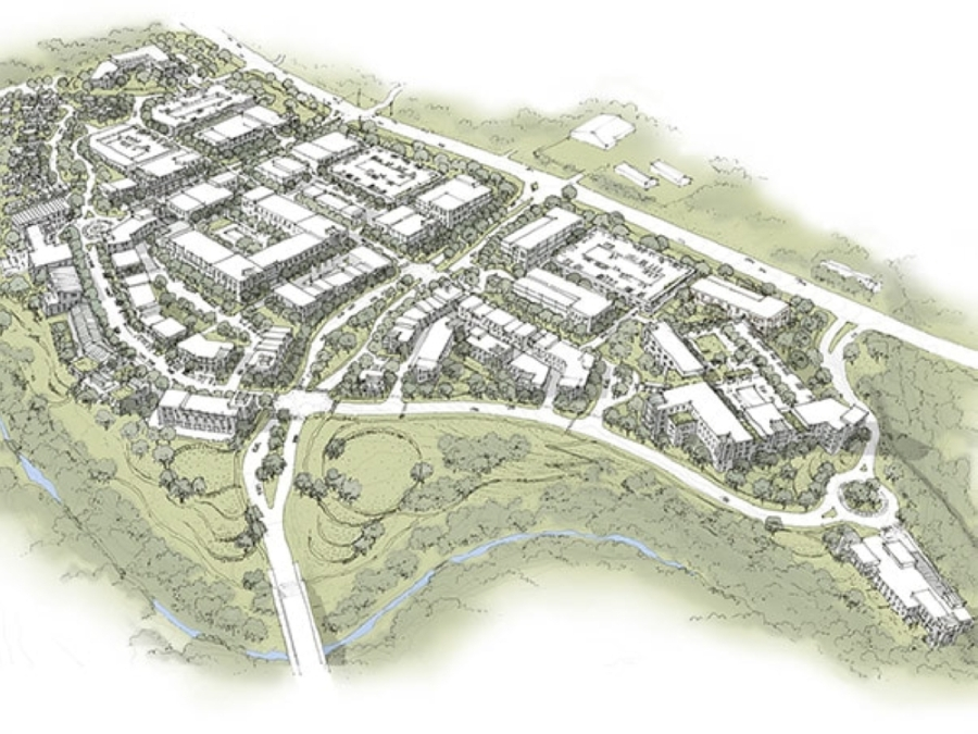This rendering shows what The Village at Spanish Oaks should look like when it is built out in seven to 10 years. (Rendering courtesy city of Bee Cave)
