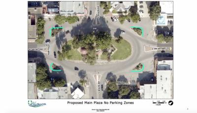 New Braunfels officials approved the first reading of an ordinance to restrict parking around Main Plaza. (Courtesy City of New Braunfels)