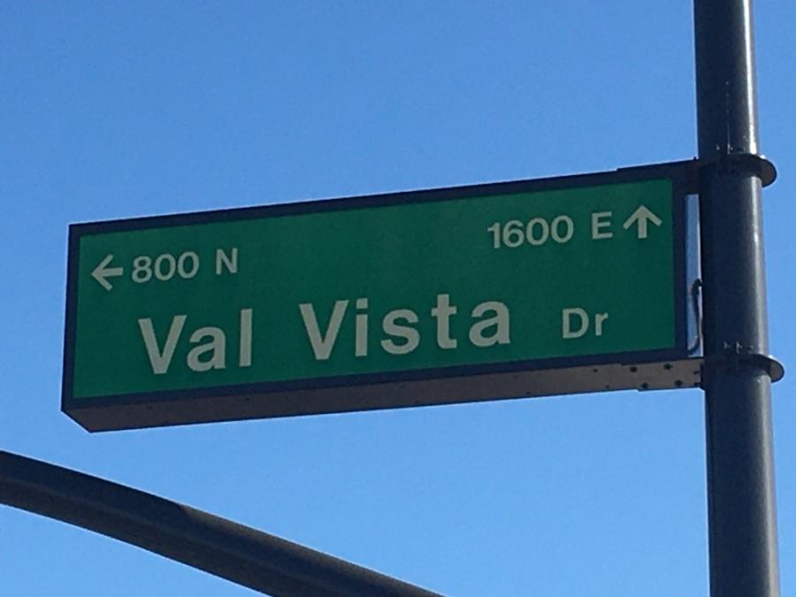 Val Vista Drive street sign