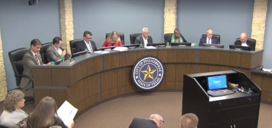 Pflugerville officials approved an EMS valuation study during a July 13 meeting. (Screen shot courtesy city of Pflugerville)