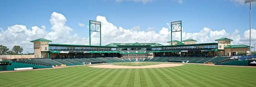 A wide shot of the baseball field at Constellation Field in Sugar Land. (Courtesy Sugar Land Skeeters)