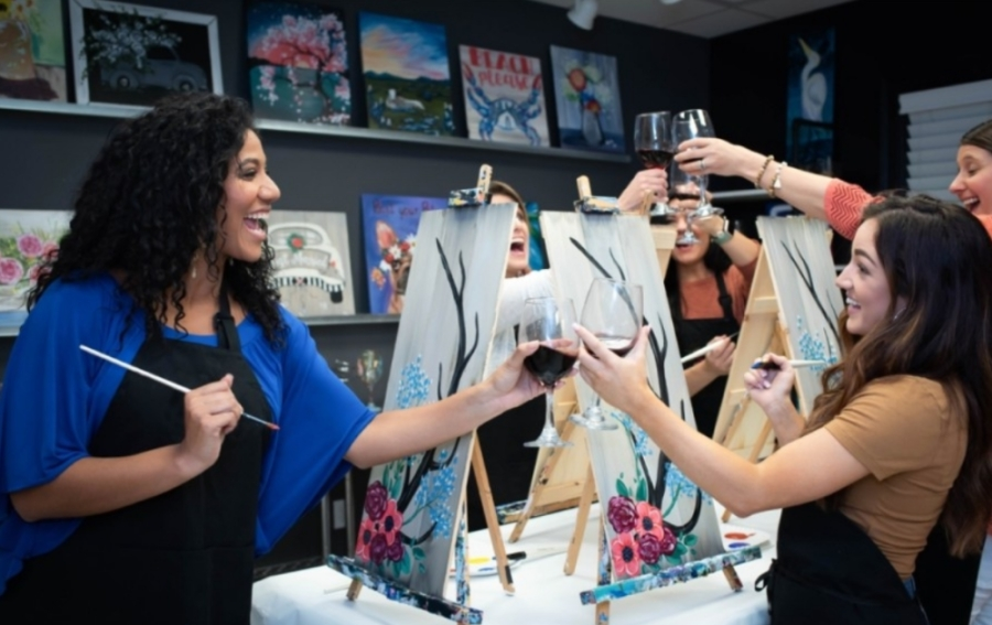 Painting with a Twist is a BYOB art studio where customers can pay for supplies and painting instruction. (Courtesy Painting with a Twist)