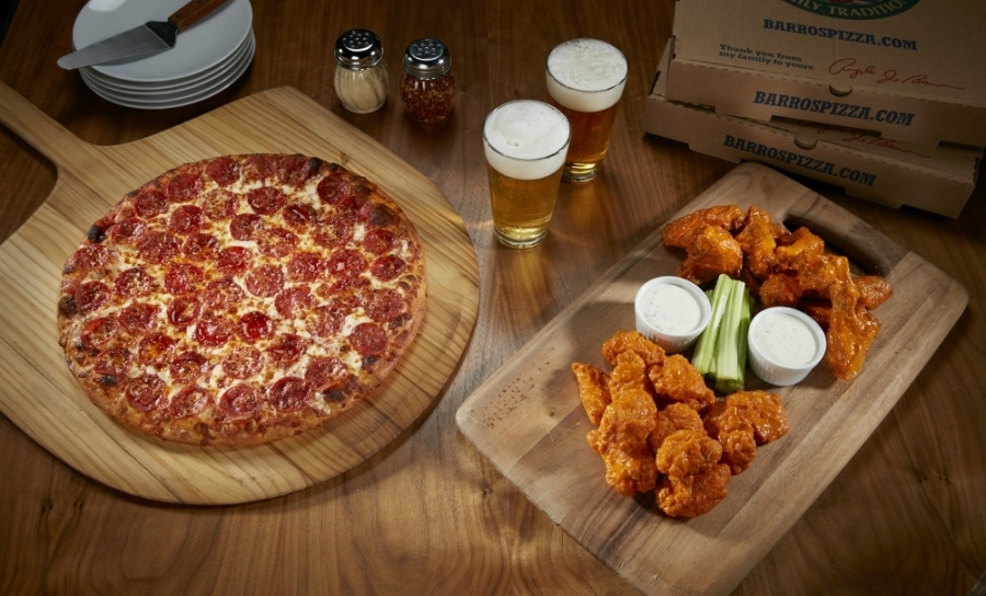 Pizza and wings will be offered at Barro's Pizza when the restaurant opens in McKinney this September. (Courtesy Barro's Pizza)