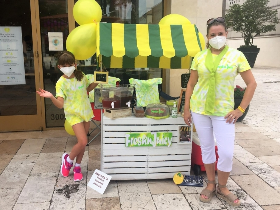 Participants in the national learning program were provided materials and lessons to operate their lemonade stand businesses. (Courtesy Lemonade Day Houston).