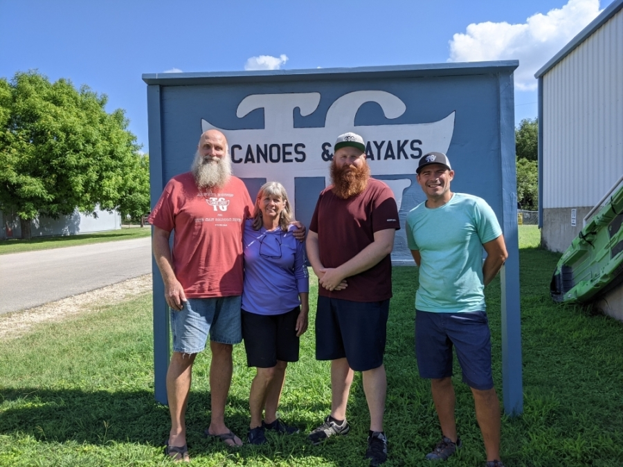 From left: Duane TeGrotenhuis, Evelyn TeGrotenhuis, Alex TeGrotenhuis and Justin Mayer are responsible for the store's operations. (Carson Ganong/Community Impact Newspaper)