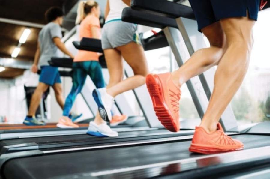 People on treadmills.